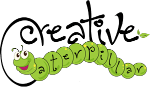 creative caterpillar logo